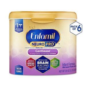 Enfamil 美赞臣 NeuroPro温和型婴儿配方奶粉 - 奶粉桶可重复使用, 每桶20盎司(约567g),6件装 870元