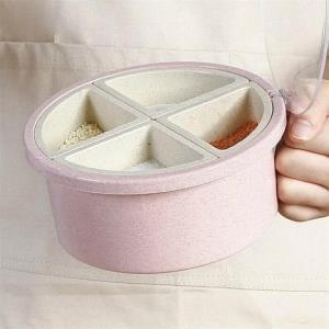 莱朗圆形4格调味盒赠调味勺 14.9元