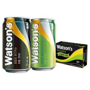 屈臣氏(Watsons)调酒系列苏打混合330ml*24(原味20罐 + 香草味4罐)苏打水 饮用水 *2件147.6元(合73.8元/件)