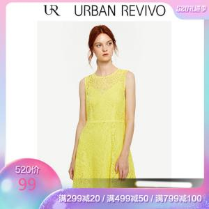 UR新品女装修身无袖魅力优雅蕾丝A型连衣裙WE29S7AE200299元