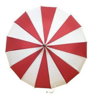 桫椤 新款黑白条纹宝塔伞 16K直杆长柄晴雨伞创意婚庆摄影伞 (红白)46.5元(需用券)