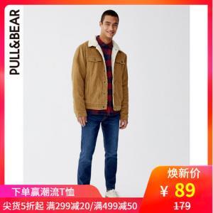 PULL&BEAR 09687707 男士修身版合身深色牛仔裤 89元