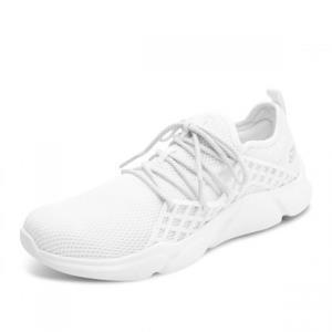 Skechers斯凯奇男鞋 新款透气网面小白鞋舒适缓震运动鞋 186.75元
