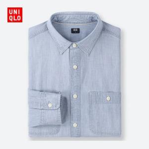 男装 休闲工装衬衫(水洗产品)(长袖) 416917 优衣库UNIQLO 99元