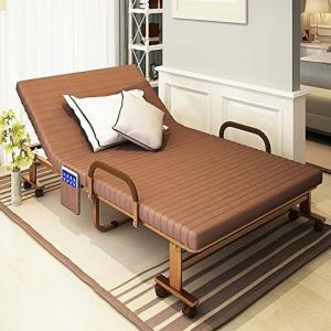 折叠床单人午睡床双人床办公室躺椅午休床家用床成人1.2米隐形床 (70cm 咖啡色) 479元