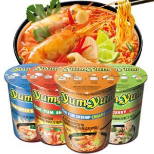 泰国进口 养养牌( yumyum )多口味杯面 70g*4杯 组合装 速食方便面 22.9元
