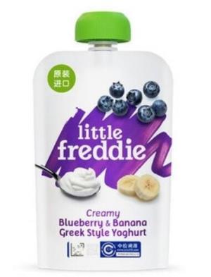 little freddie 小皮 发酵乳蓝莓香蕉泥100g *8件 123.2元(合15.4元/件)