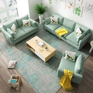 北欧小户型可拆洗实木框架布艺沙发3人位 1180元(需用券)