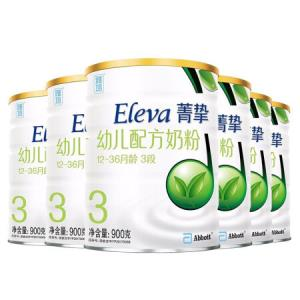 雅培(Abbott)Eleva菁挚有机3段幼配方奶粉900g 环保小金顶装 原菁智有机系列 6罐 1548元