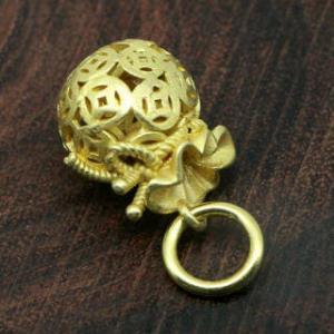 纯黄铜空心钱袋福袋汽车钥匙扣链挂件吊坠装饰品   券后14.6元