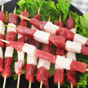 新鲜羔羊肉串烧烤食材 10串装 *2件 69元(合34.5元/件)