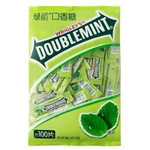 DOUBLEMINT 绿箭 原味薄荷味口香糖 100片 300g 19.9元包邮