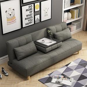赞居 沙发床 两用折叠双人沙发 多功能双人沙发椅 (灰色) 1359元