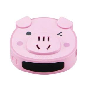 长城风行插座转换器智能小夜灯光感控制USB充电小猪无线家用办公排插插板CF09 26.8元包邮