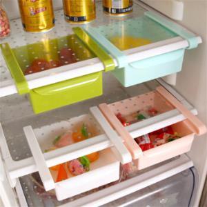 MOYOU创意抽动式分类置物盒储物架冰箱保鲜隔板层厨房整理收纳架 8.9元