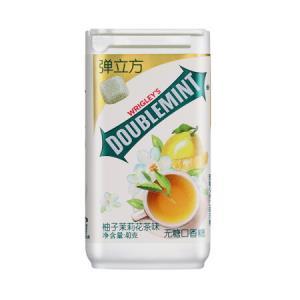 绿箭(DOUBLEMINT)无糖口香糖弹立方柚子茉莉花茶味 40g 10.9元