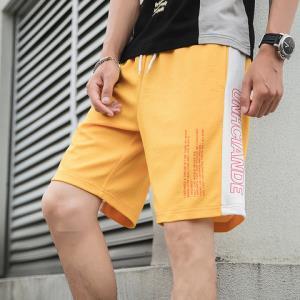 迈速狼 日系夏装青少年短裤男韩版白条运动五分裤短裤49元