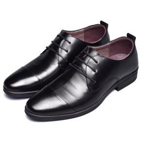 林志颖代言 罗蒙 男真皮商务皮鞋 头层牛皮  平常258元128元包邮
