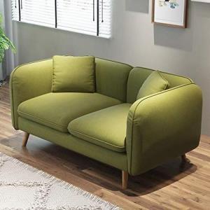 鹿枫 北欧现代时尚布艺沙发 双人位 LFSF09 (绿色) 999元