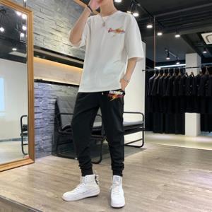 男士短裤春夏季短袖T恤青少年七分袖套装  券后¥99