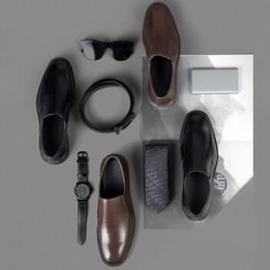 京东京造 皮鞋男一脚蹬套脚商务正装鞋简约方头 头层牛皮 黑色 42199元