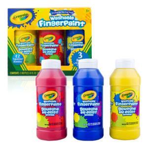 Crayola 绘儿乐 55-1310 3色可水洗手指画颜料(经典色) +凑单品 折后38元(需用券)