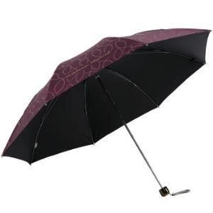 天堂伞 31845E 碰击黑胶印花 三折晴雨伞 39.9元,可199-100
