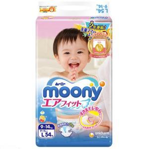 moony 尤妮佳 婴儿纸尿裤 L54片 76元
