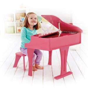 德国(Hape)木制30键钢琴音乐启蒙艺术儿童玩具可爱粉 3岁+ E0319 宝宝音乐早教男孩女孩儿童节节日生日礼物 599元