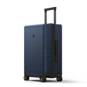 LEVEL8行李箱女拉杆箱男托运箱24英寸PC箱大容量静音万向轮旅行箱蓝色 319元