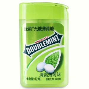运费券收割机:绿箭(DOUBLEMINT)无糖薄荷糖清爽薄荷味20粒12g塑料盒装(新旧包装随机发) 3.31元