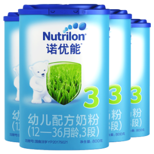 诺优能3段幼儿配方奶粉800g1-3岁适用婴幼儿牛栏奶粉荷兰原装进口Nutrilon4罐装462元(需用券)