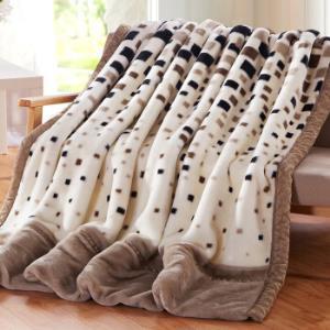 雅鹿加厚拉舍尔毛毯毯子多功能办公室盖毯毛毯床单午休被吉祥如意150*200cm±5cm(约4斤)99元