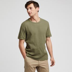 狂暑来袭:UNIQLO优衣库414495男士华夫格圆领T恤 39元包邮