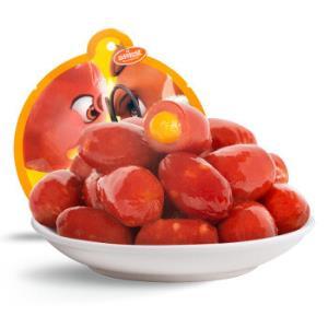新品三只松鼠_爆芝肉弹熏煮香肠卤味零食即食烤肠芝士味80g*10件 79元(合7.9元/件)