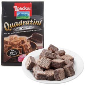 奥地利进口莱家loacker威化饼干黑巧克力味夹心粒粒装250g*8件139.2元(合17.4元/件)