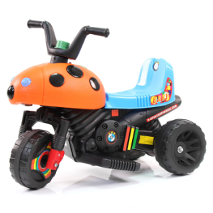 快乐牌儿童电动车摩托三轮车玩具车可坐1-6岁小孩男女宝宝电瓶车8918橙色甲壳虫169元