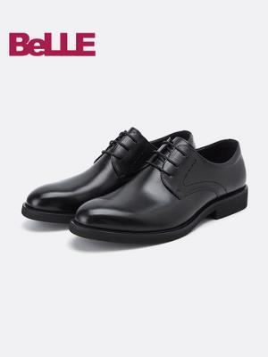 百丽10822CM8男鞋春季新款鞋子男婚鞋新郎德比鞋正装商务男士皮鞋