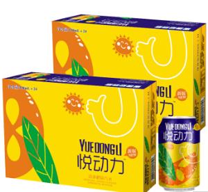悦动力 橙味汽水 碳酸 果味饮料 橙汁 330ml*24罐 礼盒装*2件 44.9元(合22.45元/件)
