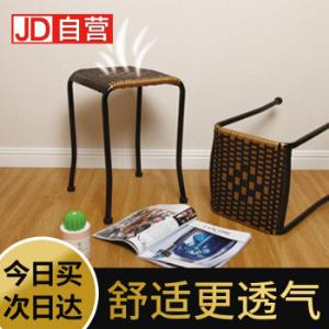 稳纳凳子藤椅家用休闲椅加厚小圆凳塑料方凳简约折叠椅子47.9元