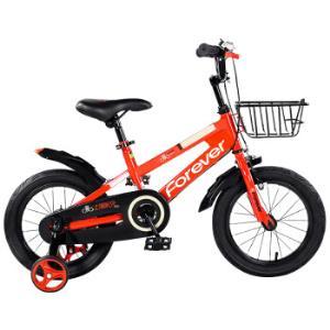 永久(FOREVER)儿童自行车男女款小孩单车脚踏车14寸儿童平衡车自行车宝宝童车红色 256元