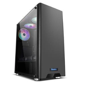 航嘉(Huntkey)GS500C黑色机箱(侧透/支持ATX主板/宽体游戏电脑机箱/支持长显卡/黑化背线/烫金脚垫) 149元