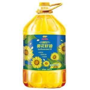 金龙鱼不油腻青年物理压榨葵花籽油6.18L*3件179.7元(合59.9元/件)