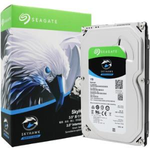 SEAGATE希捷酷鹰系列SATA3监控级硬盘64m59001T 299元