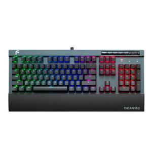 迪摩(DEARMO)F5自由战士Cherry原厂樱桃轴红轴机械键盘RGB炫彩背光铝合金面板机械键盘深空黑灰379元