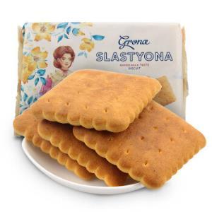 乌克兰进口格兰娜Grona牛奶味饼干休闲零食办公室点心360g/袋*16件 80.22元(合5.01元/件)