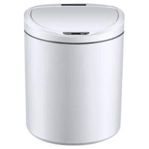 百家好世智能感应垃圾桶家用全自动分类带盖大号翻盖垃圾篓卫生间纸篓客厅卧室餐厨电动感应垃圾筒D型白色8L*3件204.9元(合68.3元/件)
