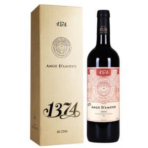 法国进口红酒波尔多梅多克AOC级乐朗1374天使干红葡萄酒2016年礼盒装750ml*2件238.4元(合119.2元/件)