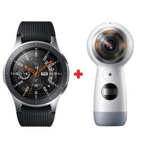 三星(SAMSUNG)SamsungGalaxyWatch46mm智能手表+360度全景相机智能全新体验钛泽银手表+运动相机 2565元