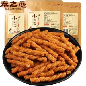 秦之恋手工麻花小吃锅巴薯片零食膜片208g(海苔味)*2件9.9元(合4.95元/件)